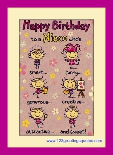 Funny Niece Birthday  Awesome Happy Birthday Niece E Greeting Cards