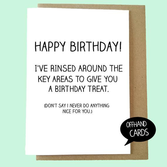 Funny Sexual Innuendo Quotes  Funny Birthday Card Rude Card ual Innuendo Garth