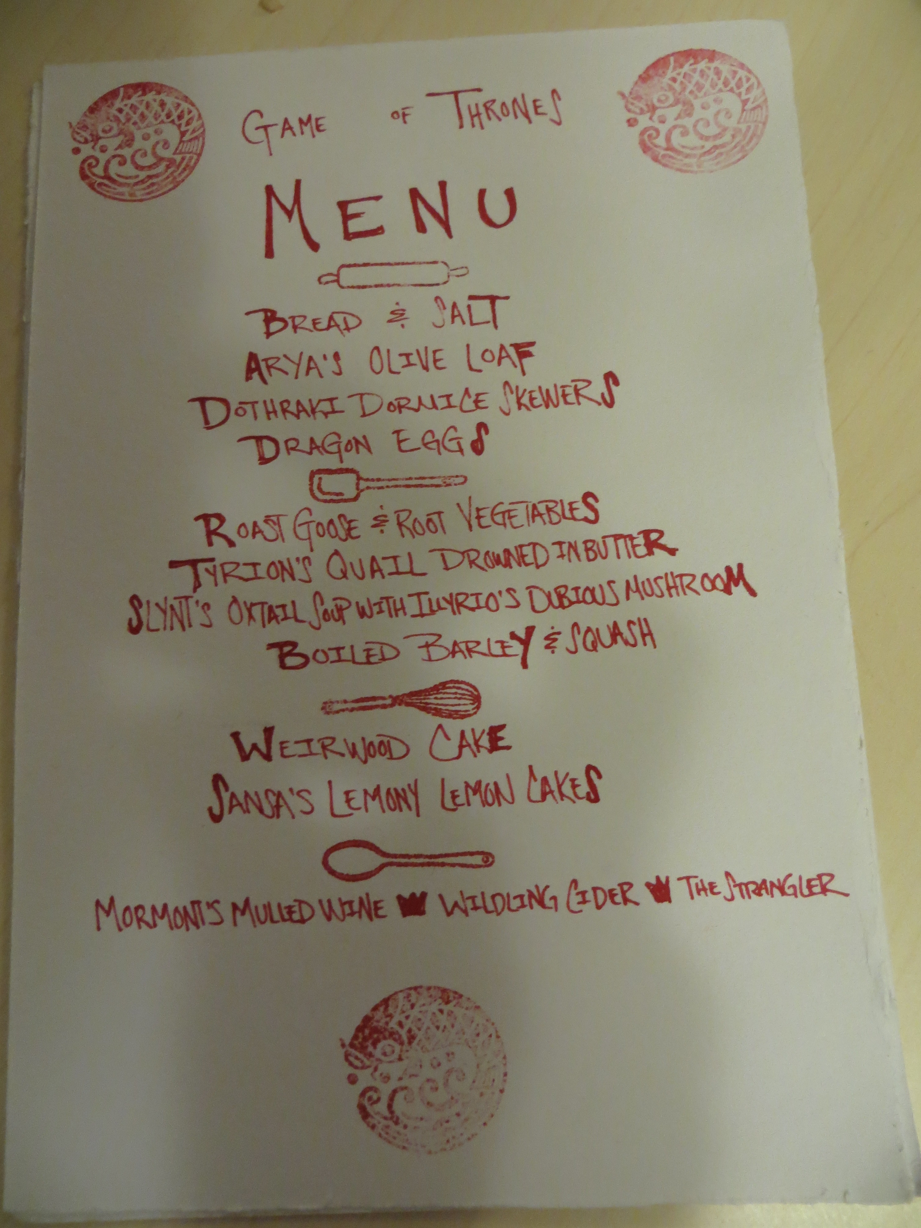 Game Of Thrones Dinner Party Ideas  Game of Thrones Dinner Party