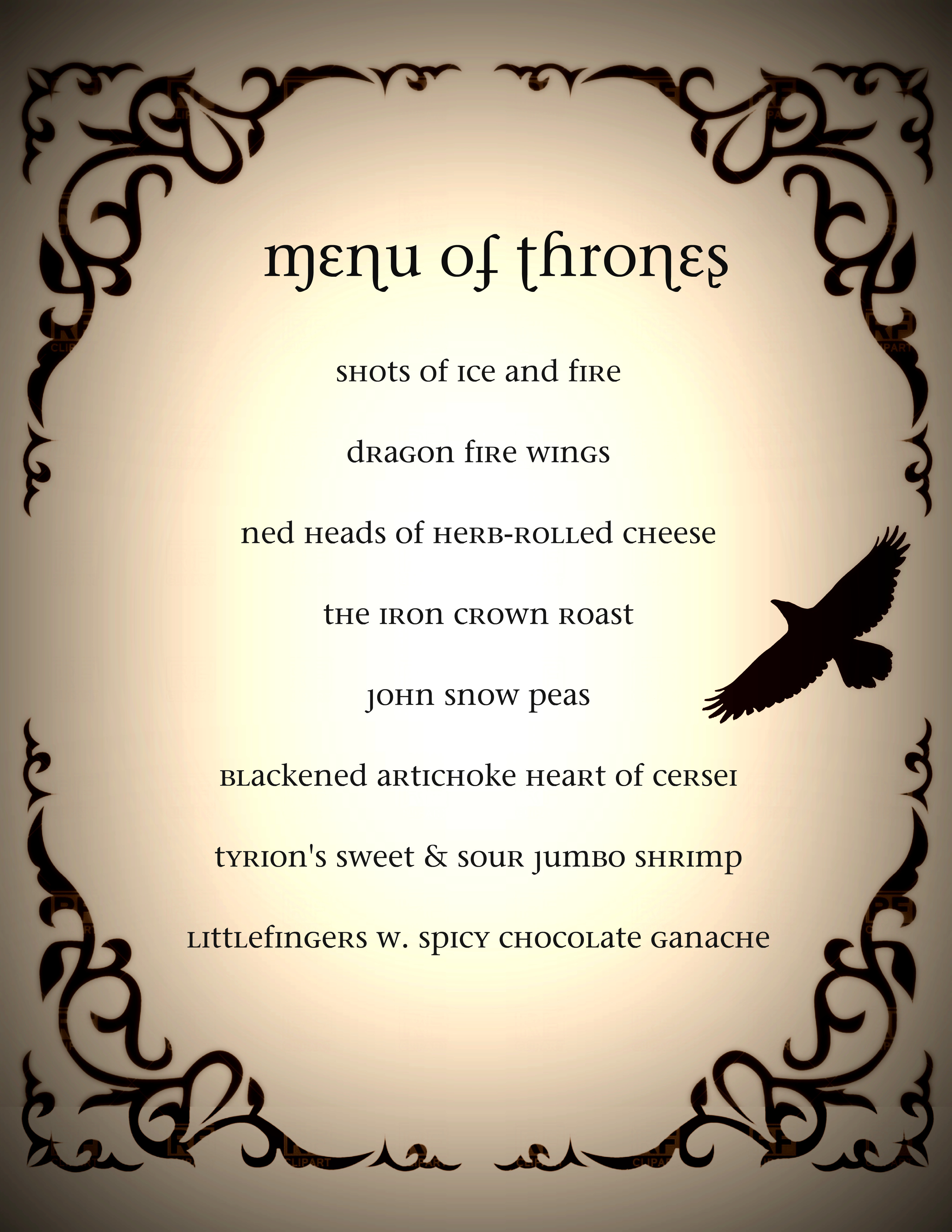 Game Of Thrones Dinner Party Ideas  1000 images about Game of Thrones 30th Birthday Dinner