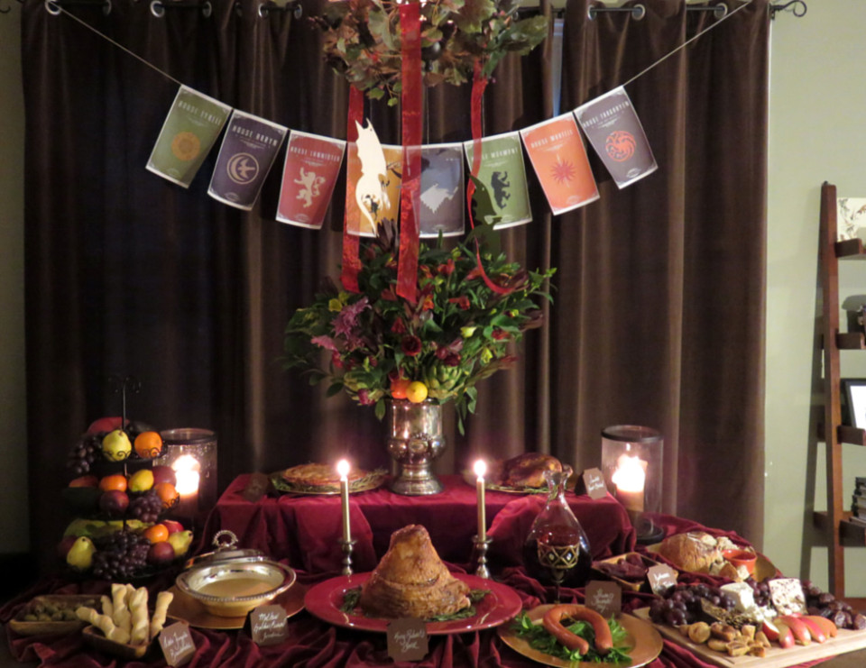 """Game Of Thrones Dinner Party Ideas  Game of Thrones Dinner Party """"Game of Thrones Viewing"""