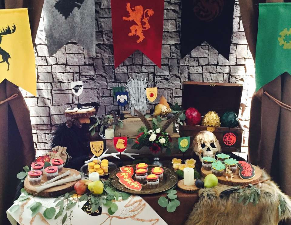 """Game Of Thrones Dinner Party Ideas  Game Thrones Birthday """"Game Thrones Party"""""""