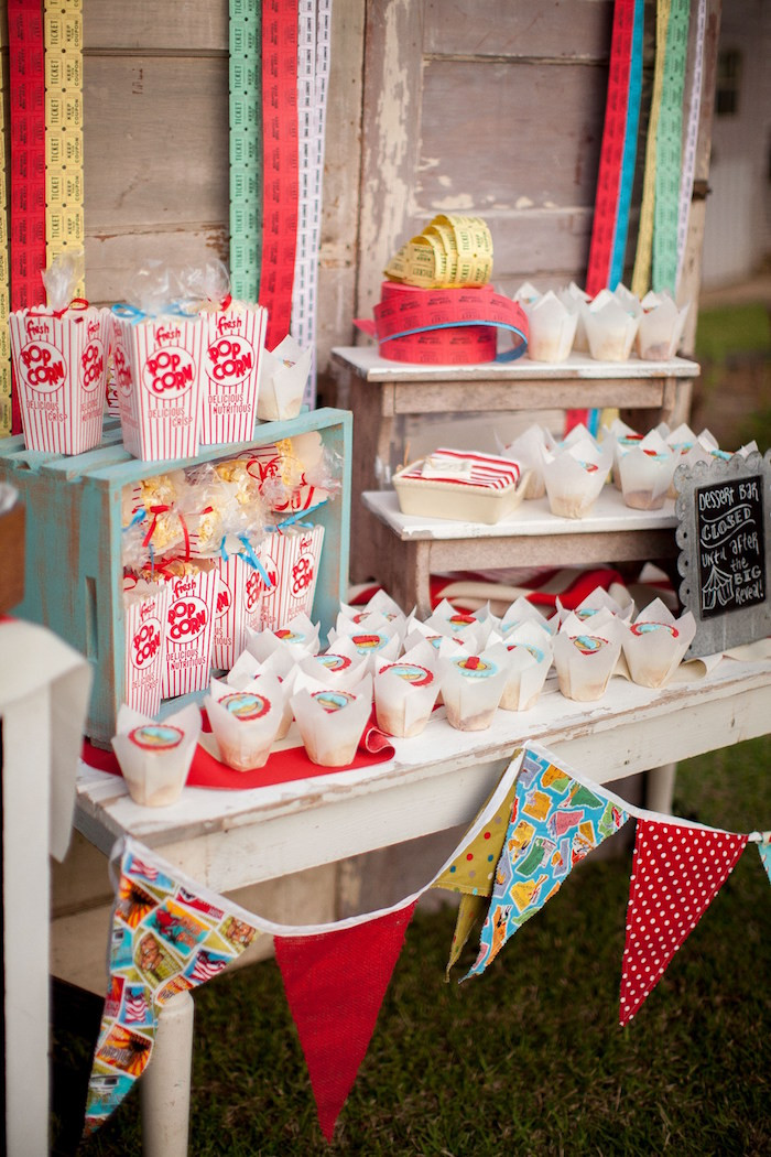 Gender Reveal Party Ideas  Kara s Party Ideas Carnival Themed Gender Reveal Party