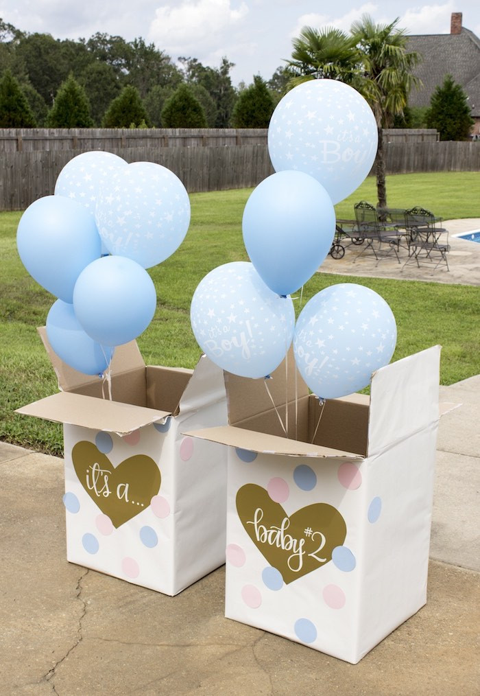 Gender Reveal Party Ideas  Kara s Party Ideas Ice Cream Social Gender Reveal Party