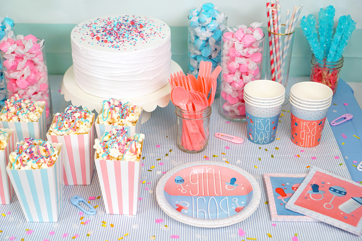 Gender Reveal Party Ideas  Gender Reveal Party Ideas Happiness is Homemade