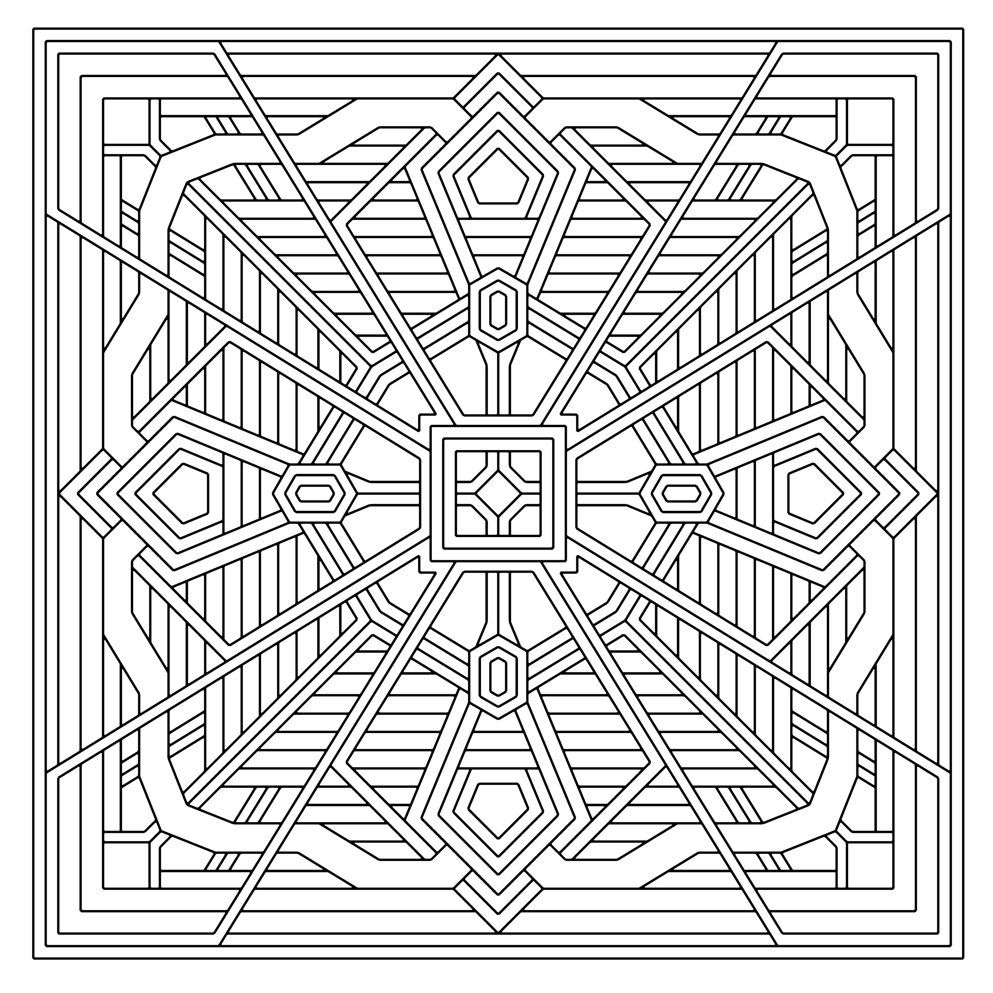 Geometric Coloring Pages  geometrics coloring pages geometric coloring pages