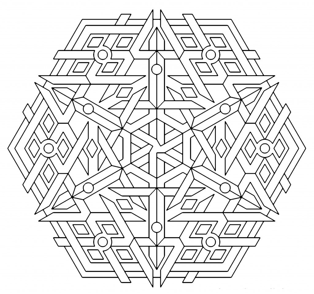 Geometric Coloring Pages  Free Printable Geometric Coloring Pages For Kids