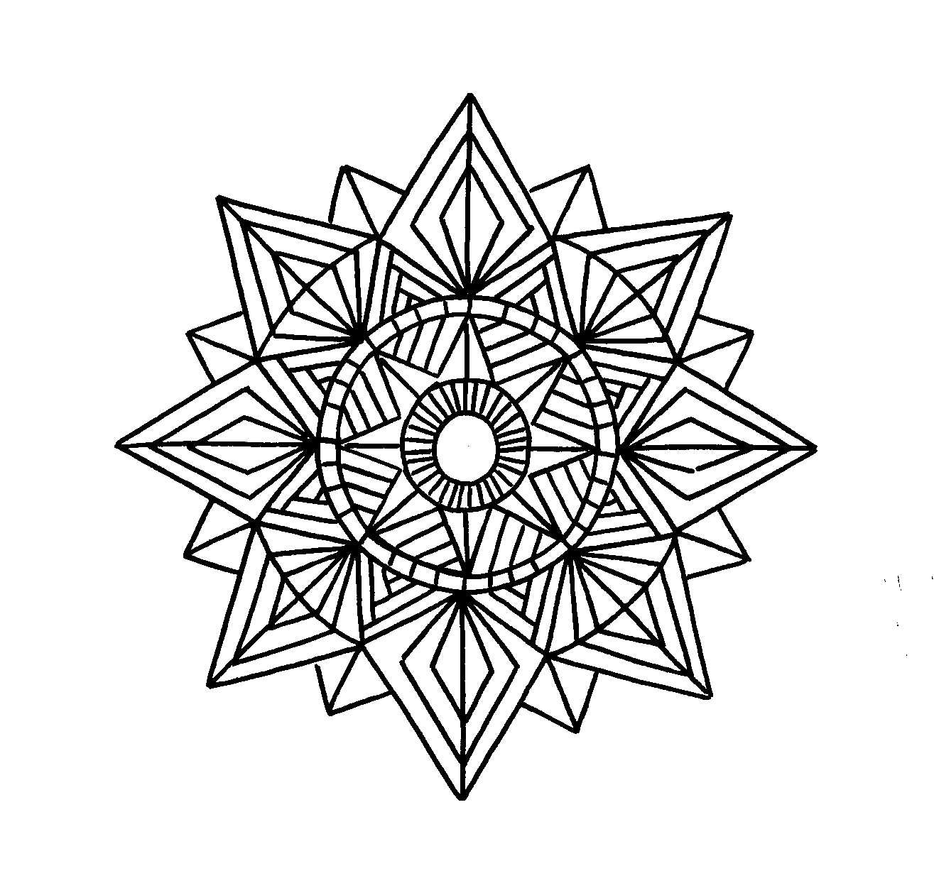 Geometric Coloring Pages  tattoo