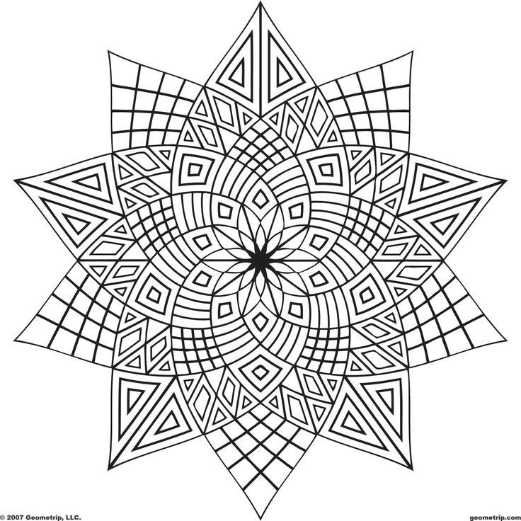 Geometric Coloring Pages  Printable Geometric Coloring Pages Coloring Home