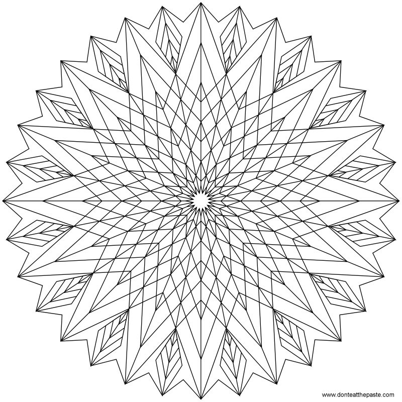 Geometric Coloring Pages  Printable Geometric Coloring Pages AZ Coloring Pages