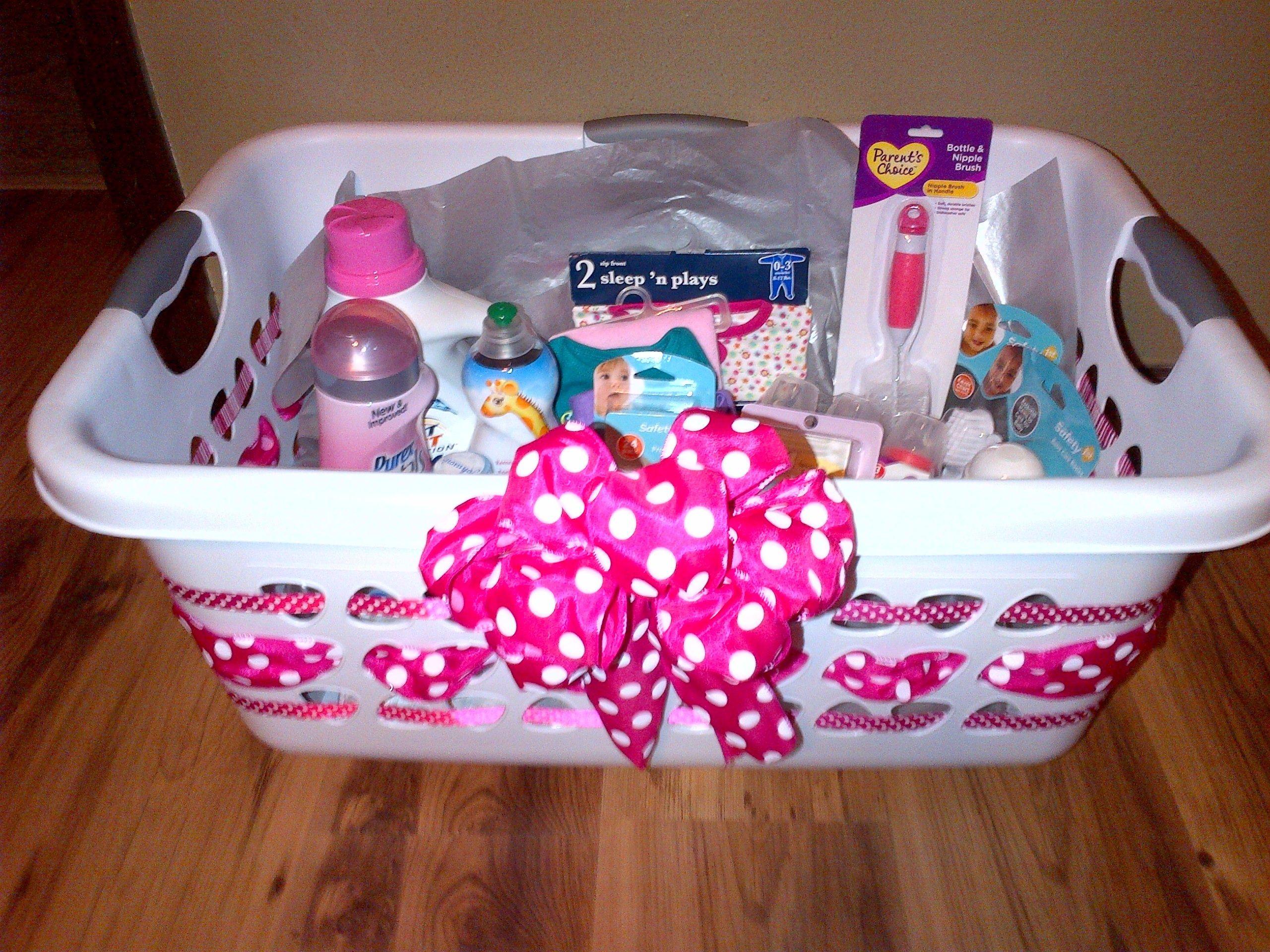 Gift Basket Ideas For Baby Shower  Laundry basket baby ts Gift ideas Pinterest