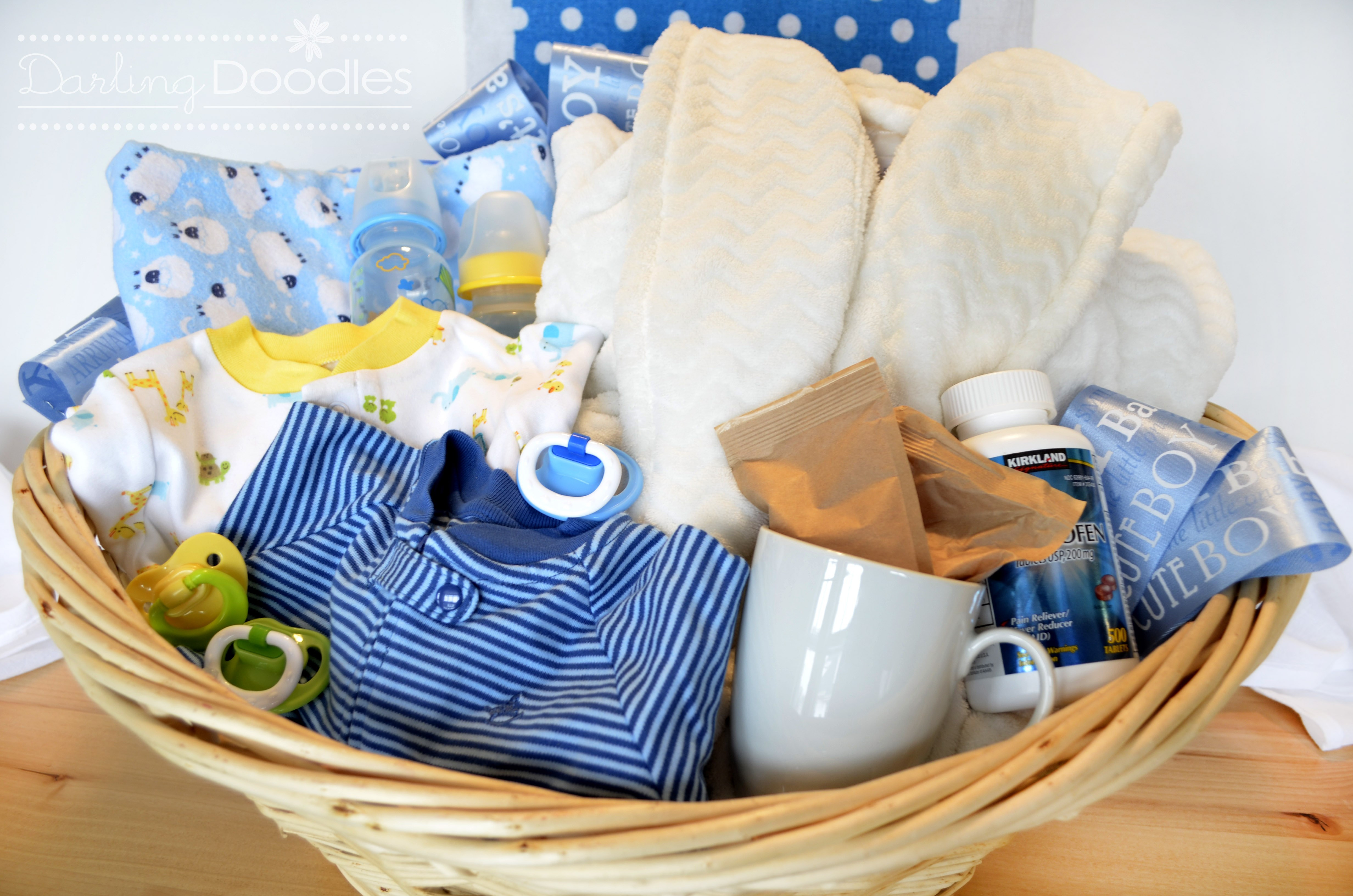 Gift Basket Ideas For Baby Shower  Up All Night Survival Kit Darling Doodles