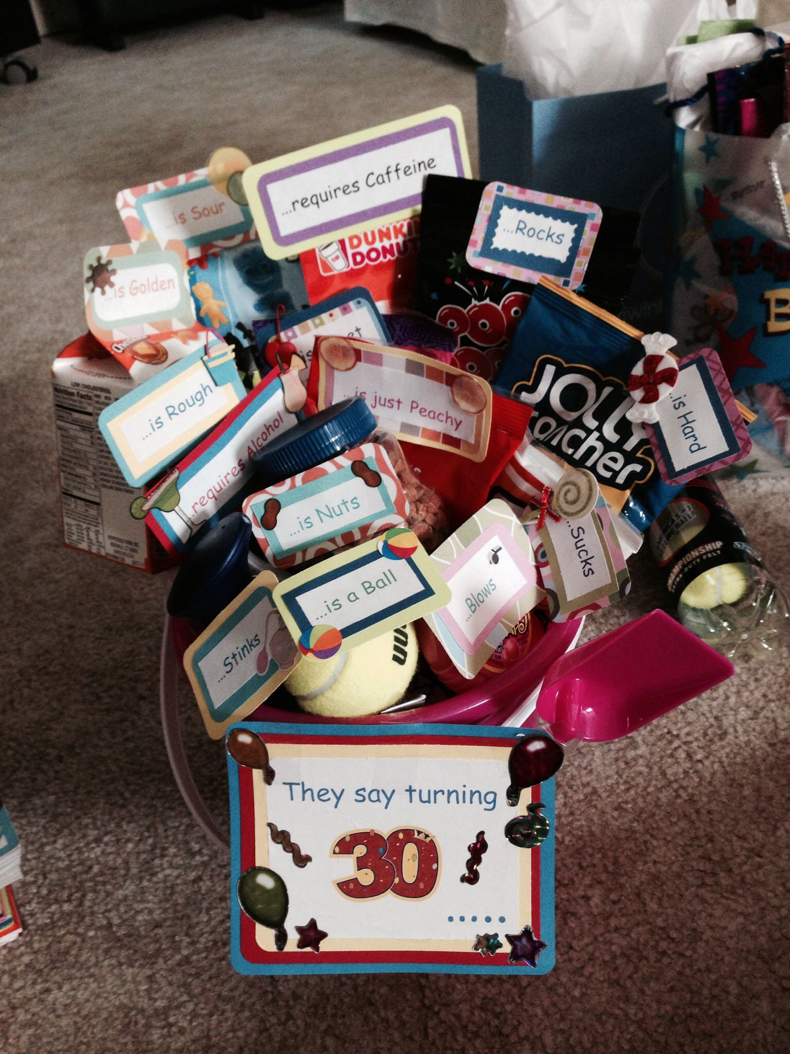 Gift Ideas For 30Th Birthday Woman  More of the 30th birthday basket Randoms