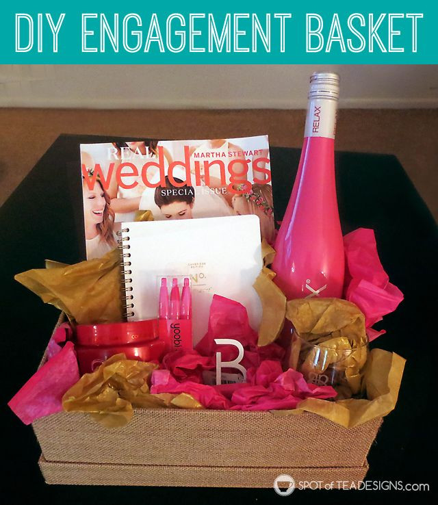 Gift Ideas For Engagement Party  DIY Engagement Basket GUEST POST