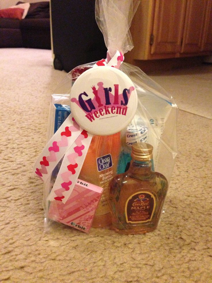 Gift Ideas For Girls Weekend  Girls weekend trip little goo bag