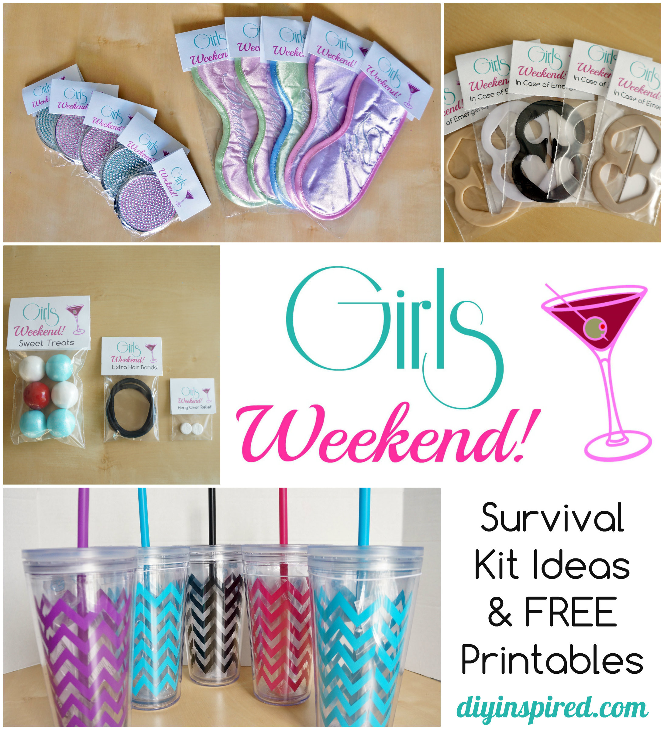 Gift Ideas For Girls Weekend  DIY Bachelorette Party Favor Ideas FREE Printable DIY