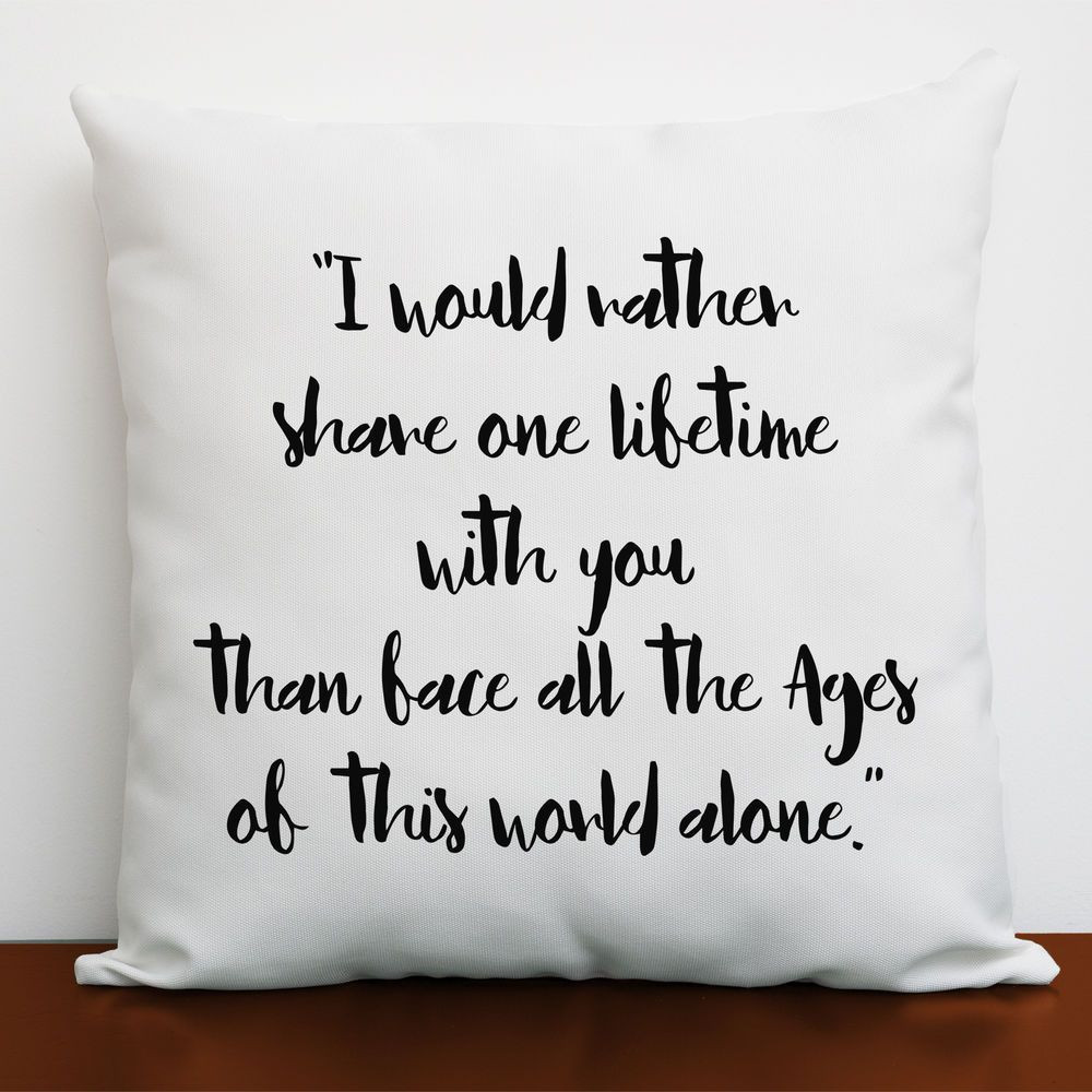 Gift Ideas For Nerdy Girlfriend  Details about LOTR Romantic Cushion Cover Lord of The