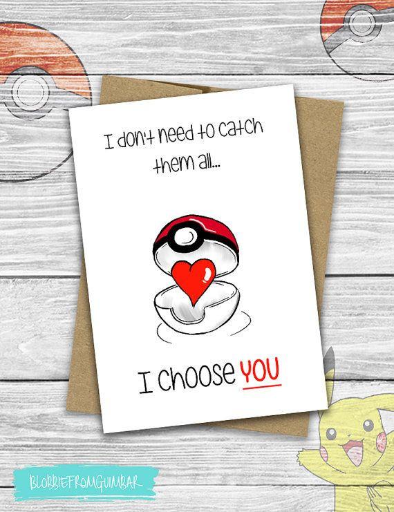 Gift Ideas For Nerdy Girlfriend  I Choose You Pokemon Love