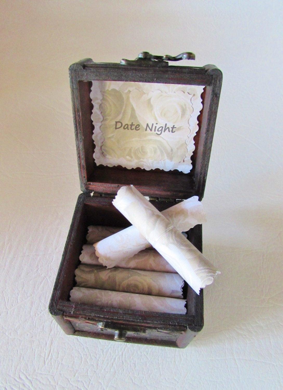 Gift Ideas For New Girlfriend  Girlfriend Gift Idea Date Night Scroll Box by FlirtyCreations