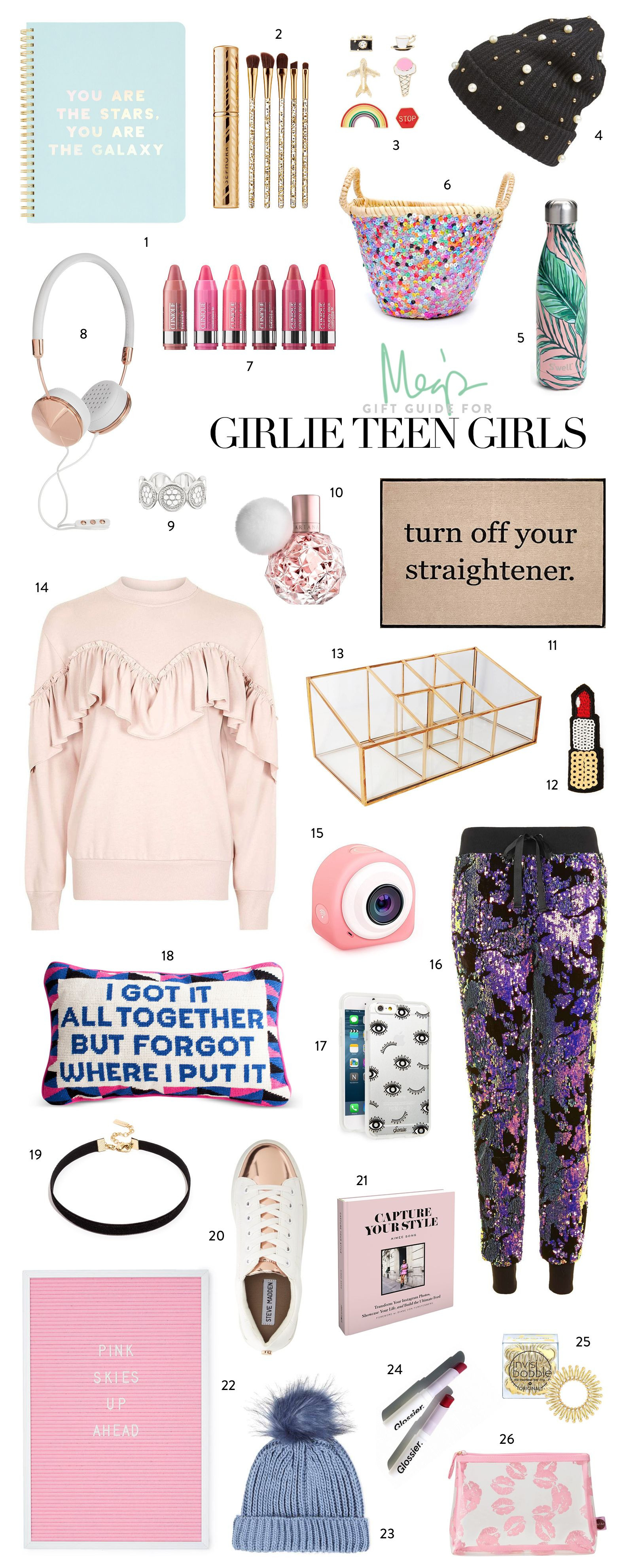 Gift Ideas For Teenage Girls  Holiday Gift Guide Girlie Teen Girls