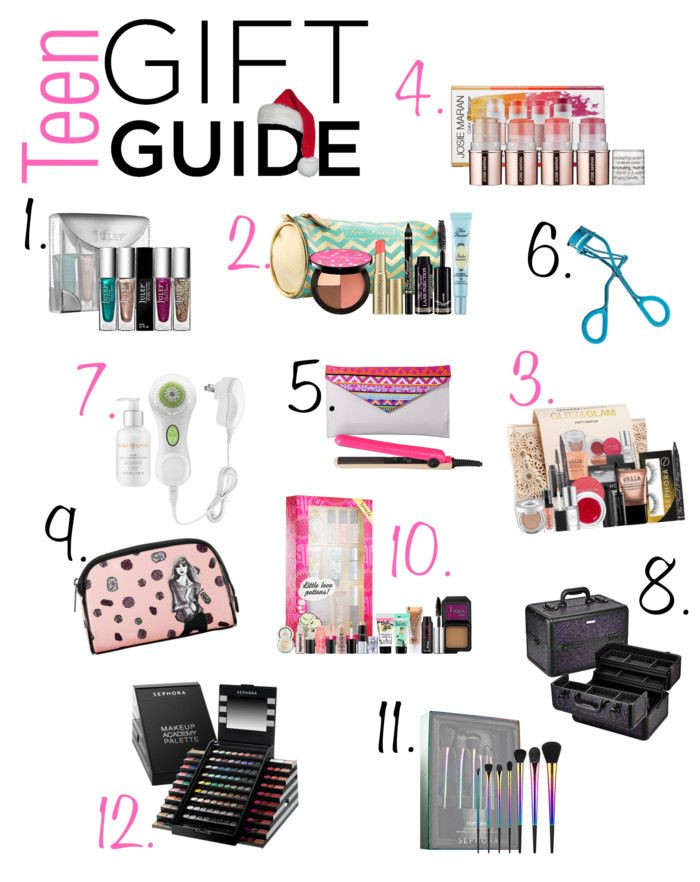 Gift Ideas For Teenage Girls  Teen Holiday Gift Guide featuring products from Sephora