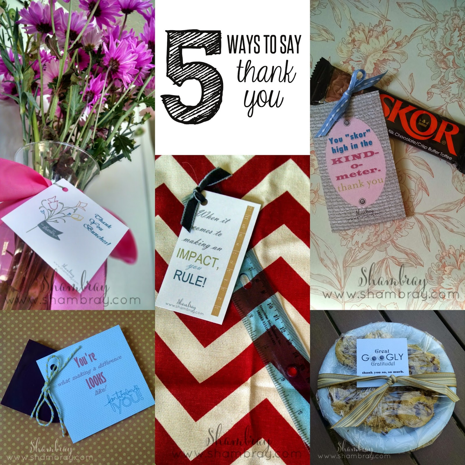 Gift Ideas To Say Thank You  Shambray Creative ways to say thank you and t ideas