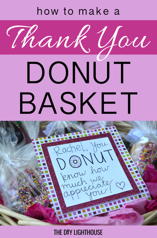 Gift Ideas To Say Thank You  How to Say Thank You With Donuts