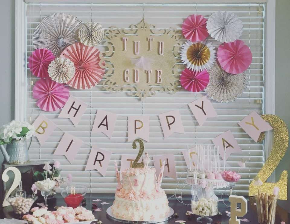 "Girls 2Nd Birthday Party Ideas  Tutus Birthday ""Payton s TuTu Cute 2nd Birthday Party"