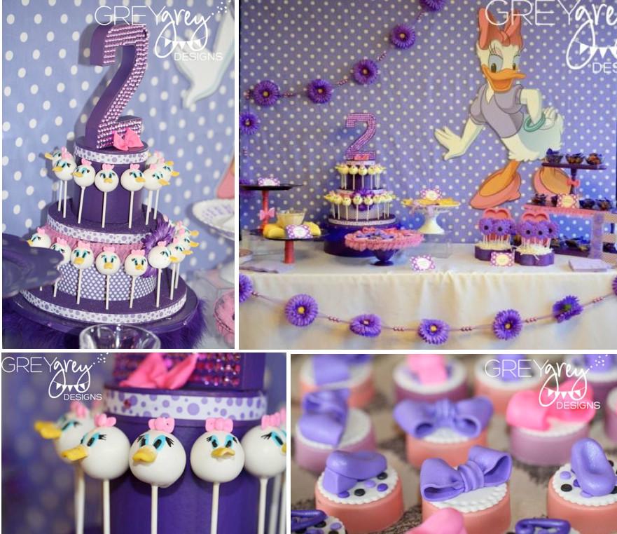 Girls 2Nd Birthday Party Ideas  Kara s Party Ideas Disney Daisy Duck Purple Girl 2nd