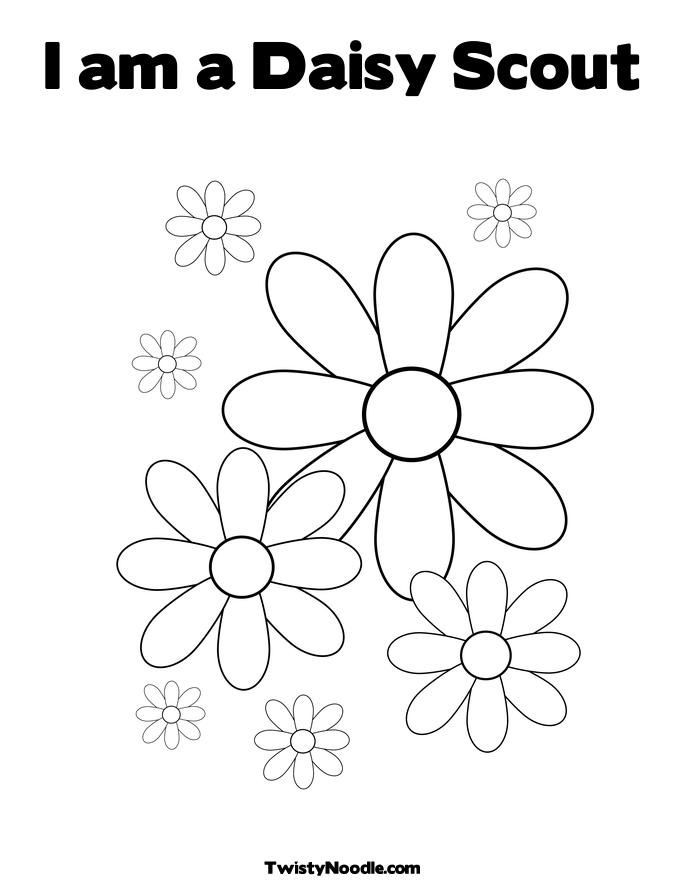 Girls Scout Daisy Coloring Pages  Girl Scout Daisy Petal Coloring Pages Sketch Coloring Page