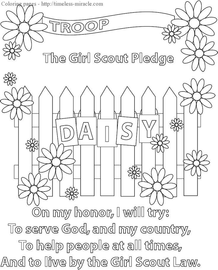 Girls Scout Daisy Coloring Pages  Daisy girl scout coloring pages free