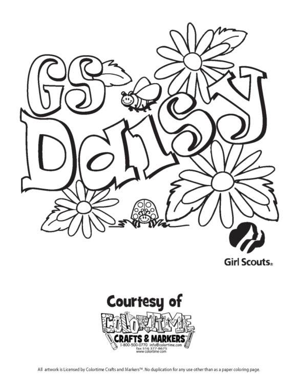 Girls Scout Daisy Coloring Pages  Coloring Pages Heavenly Coloring Pages For Girl Scouts