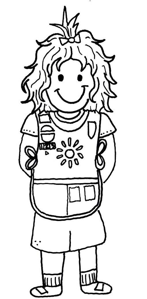 Girls Scout Daisy Coloring Pages  Girl Scout Coloring Pages Bestofcoloring