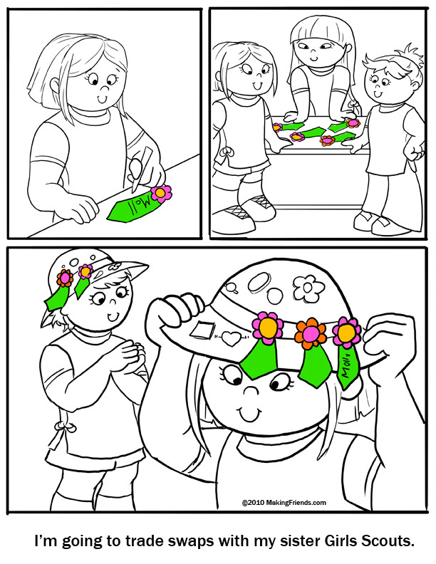 Girls Scout Daisy Coloring Pages  Daisy Coloring Page