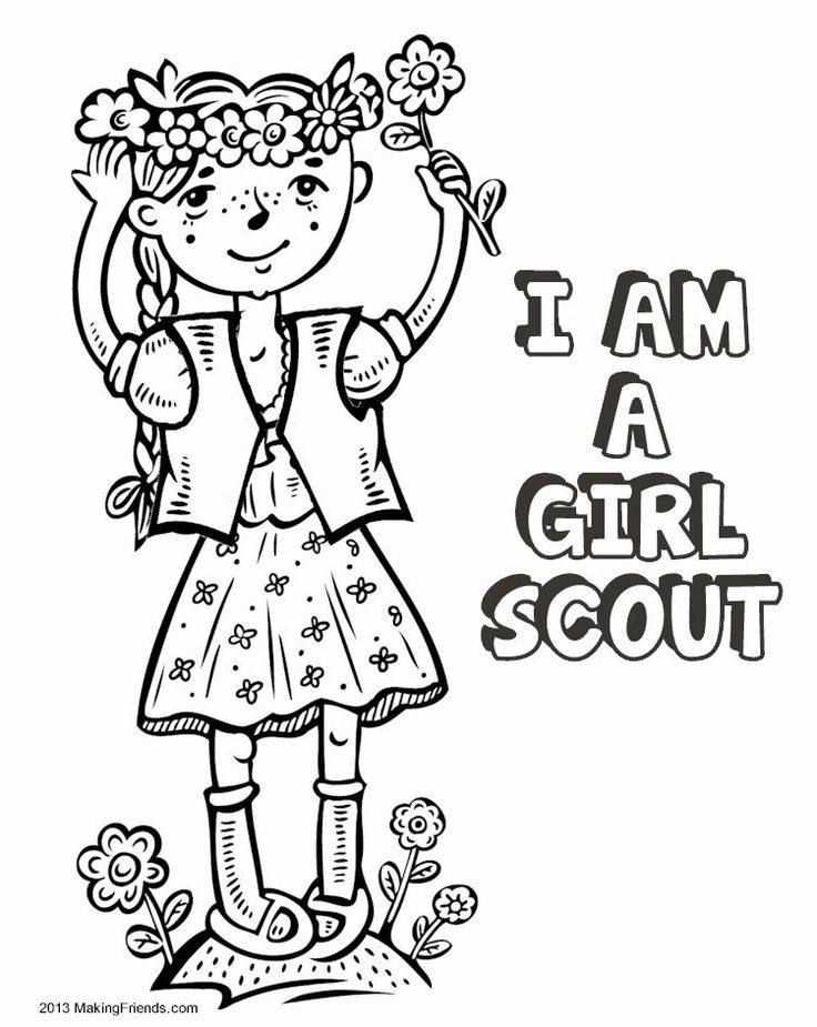 Girls Scout Daisy Coloring Pages  Madagascar Thinking Day Download Coloring Pages