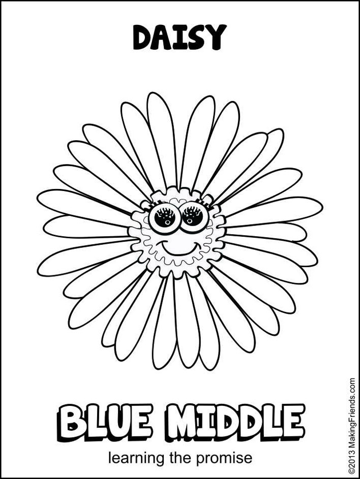 Girls Scout Daisy Coloring Pages  daisy scout