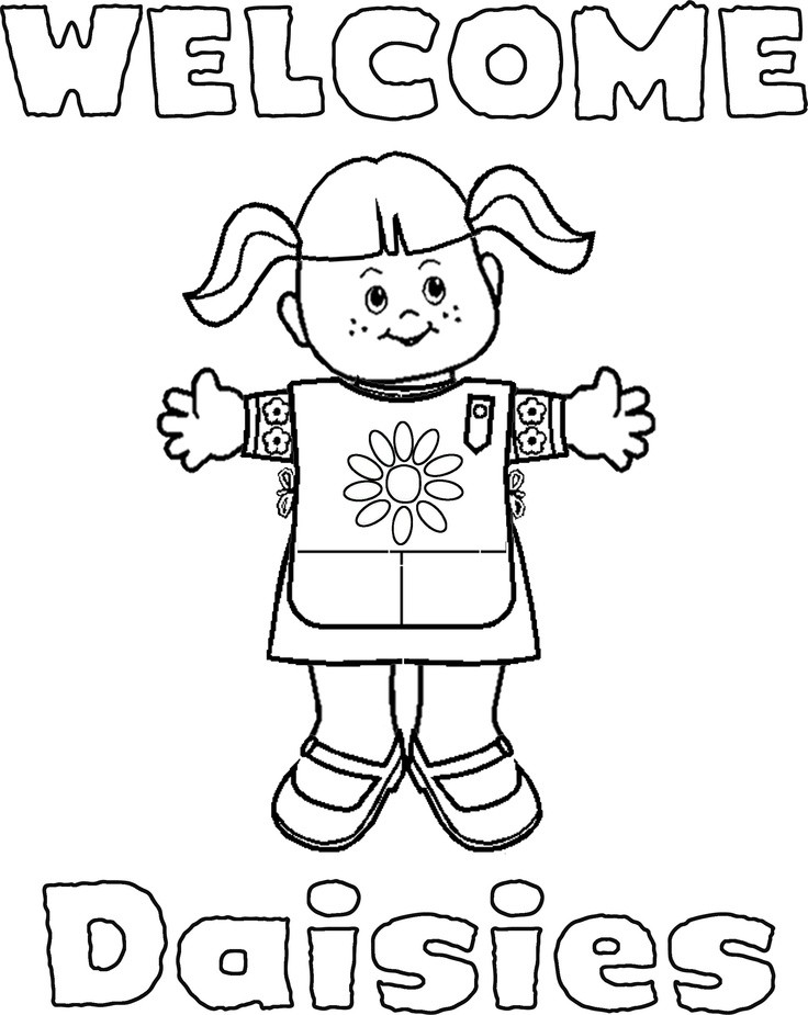 Girls Scout Daisy Coloring Pages  Girl Scouts Coloring Pages AZ Coloring Pages