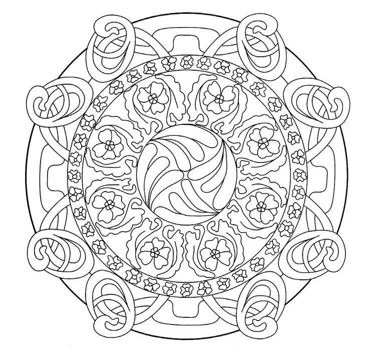Girly Mandala Coloring Pages  art nouveau coloring pages Google Search