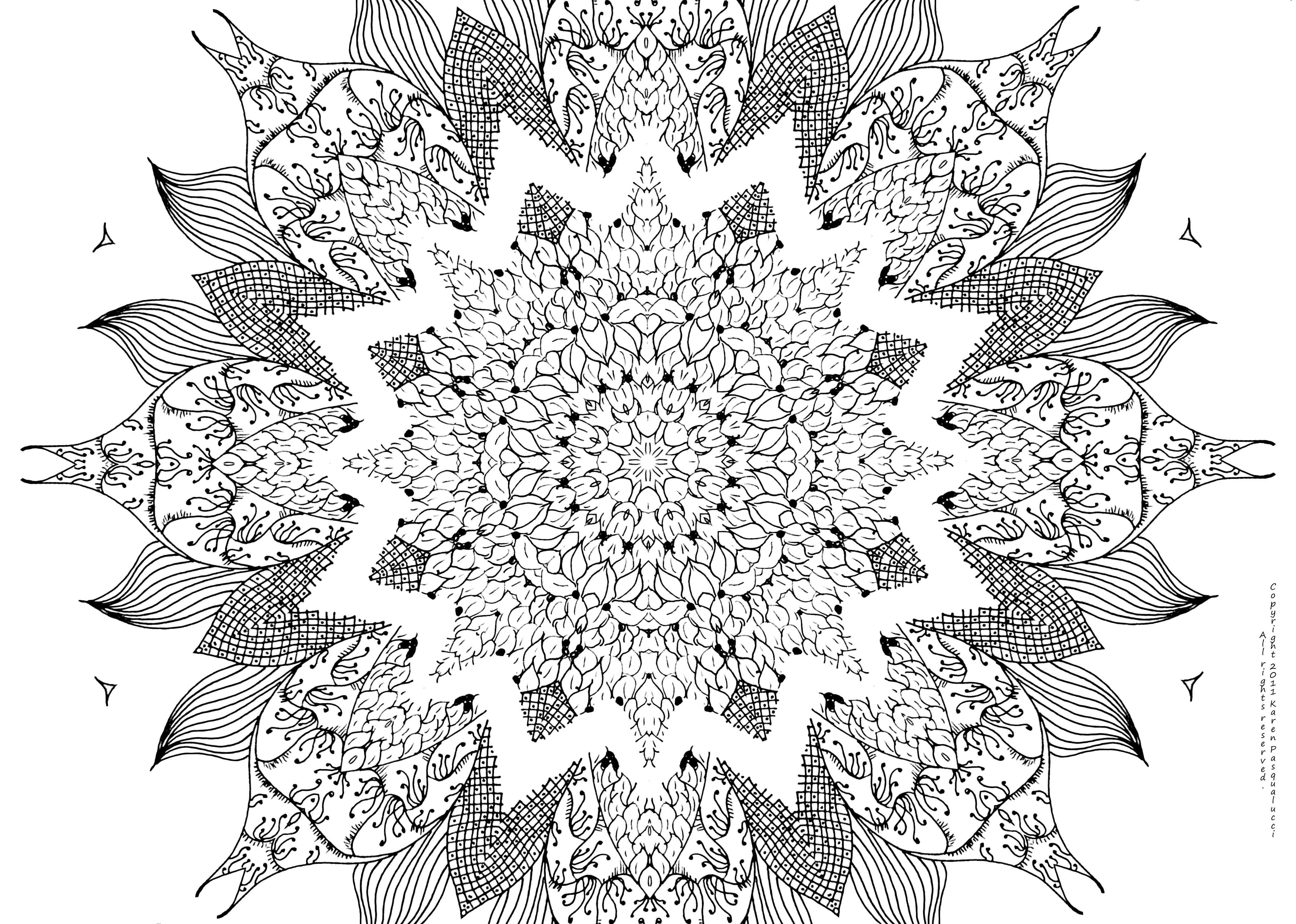 Girly Mandala Coloring Pages  Free Mandala Coloring Pages For Adults Coloring Home