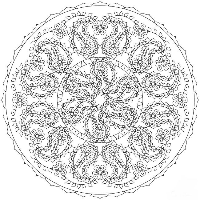 Girly Mandala Coloring Pages  19 best Mandala Coloring Pages images on Pinterest