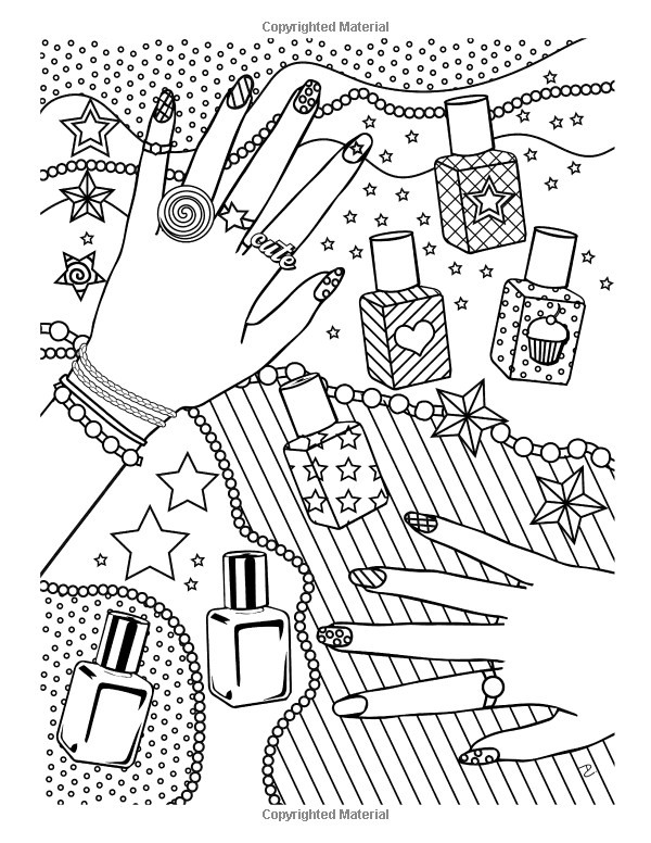 Girly Mandala Coloring Pages  Girl Stuff 24 Totally Girly Coloring Pages Dani Kates