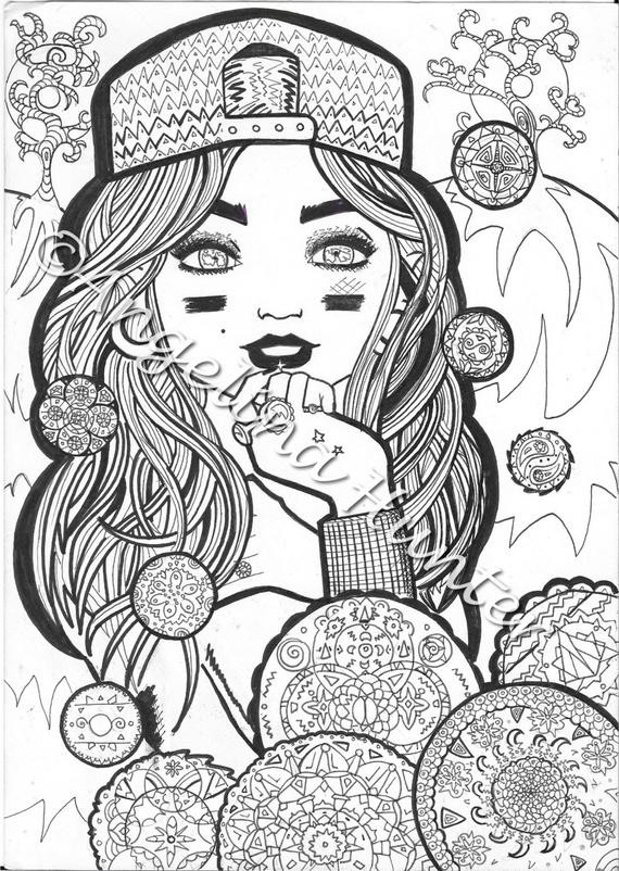 Girly Mandala Coloring Pages  Girly in her zen