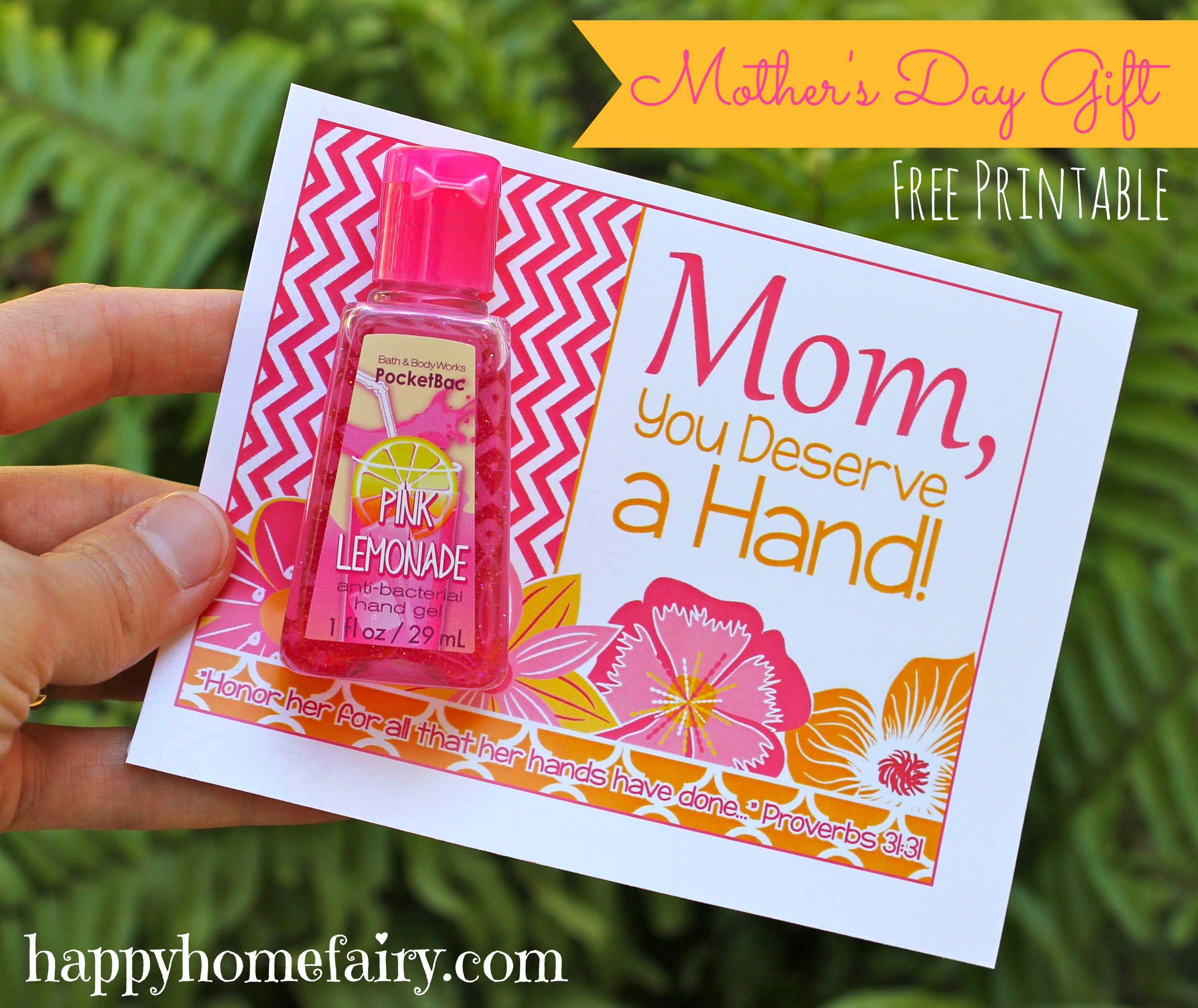 Good Mothers Day Gift Ideas  Easy Mother s Day Gift Idea FREE Printable Happy Home