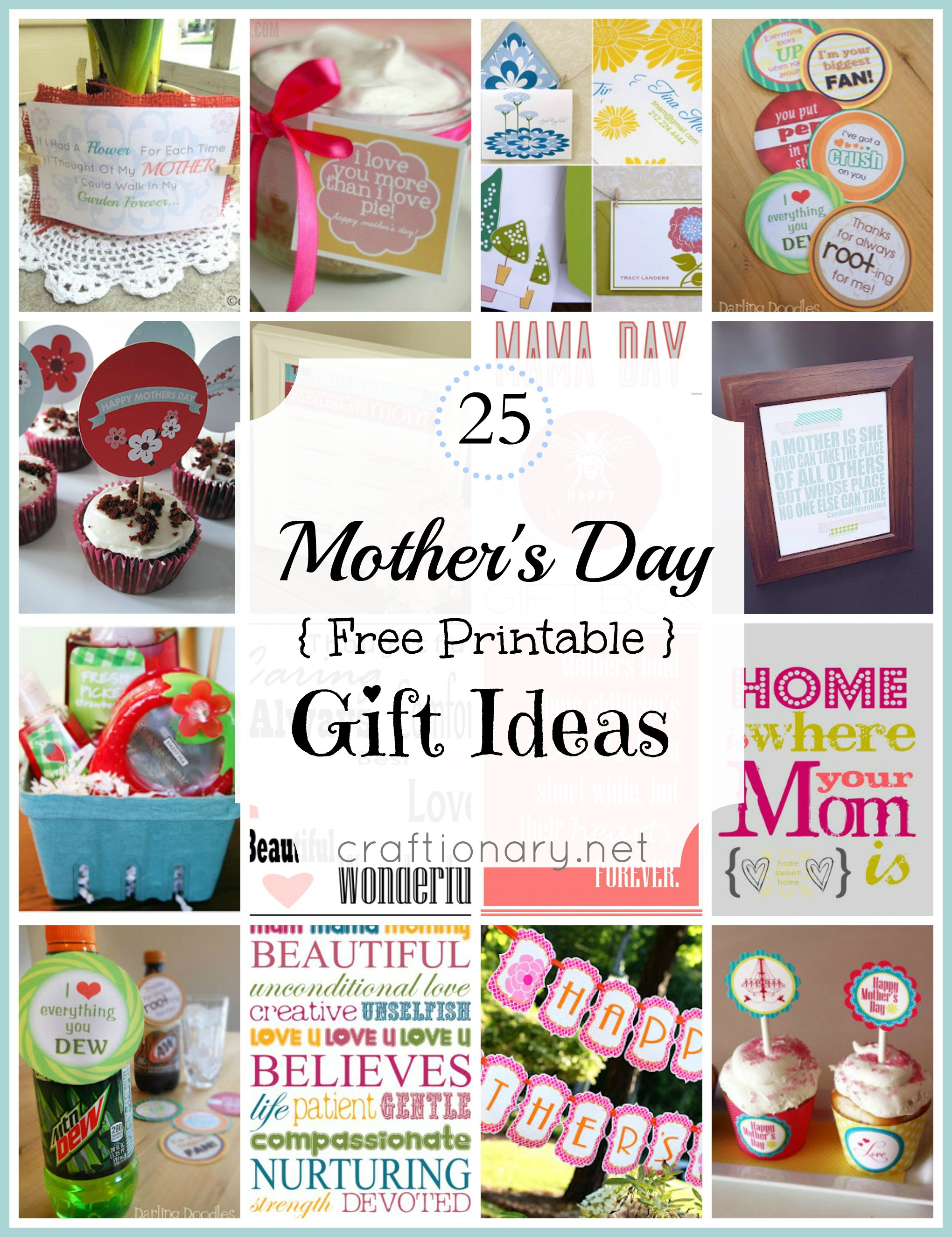 Good Mothers Day Gift Ideas  Craftionary