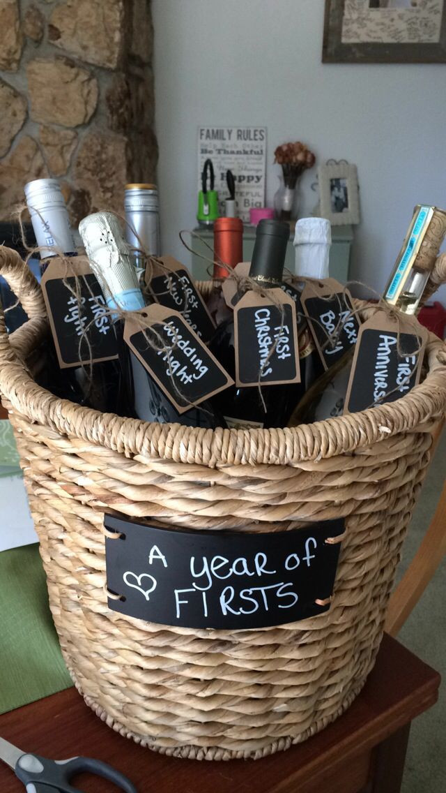 Good Wedding Gift Ideas  95 best images about Diy wedding wine basket ideas on