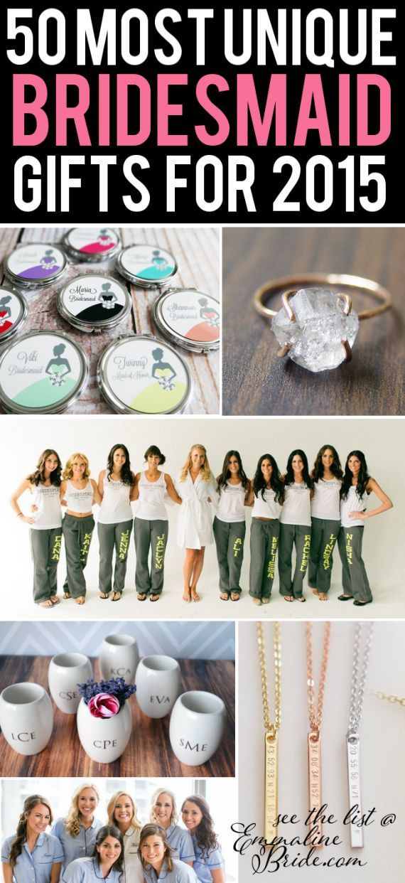 Good Wedding Gift Ideas  Best 25 Bridesmaid ts unique ideas on Pinterest