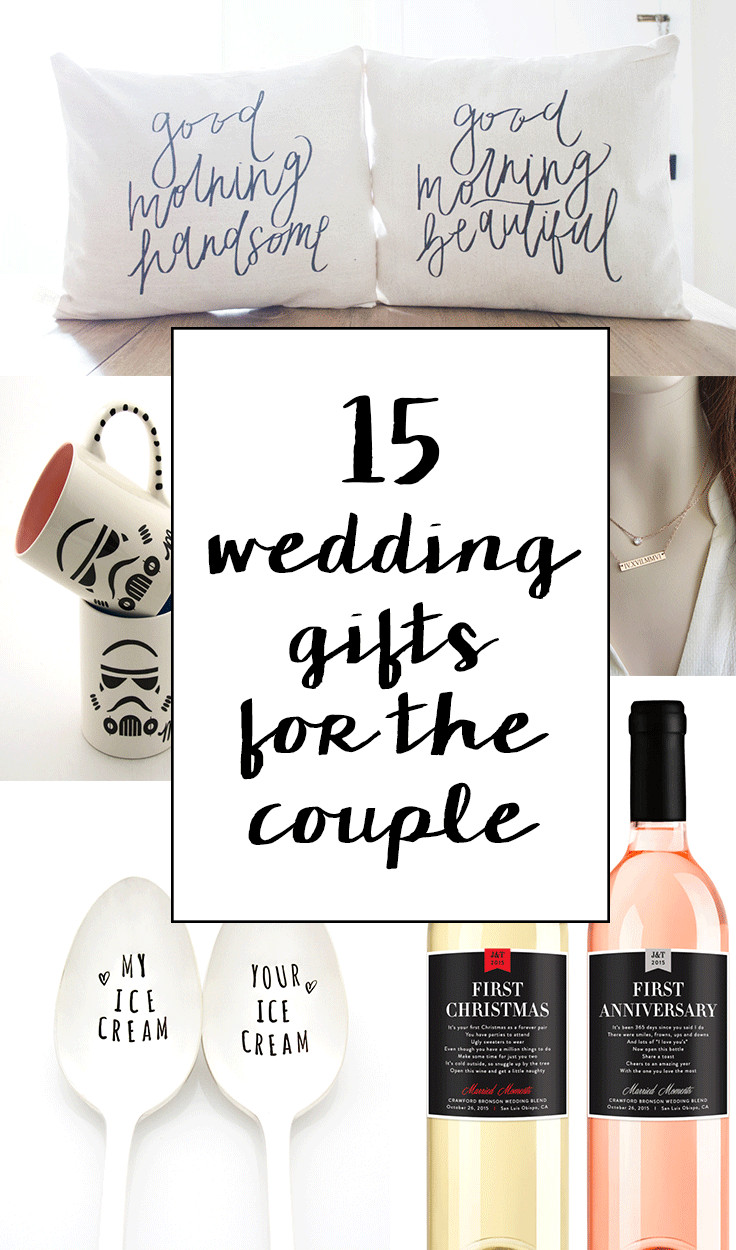 Good Wedding Gift Ideas  15 Sentimental Wedding Gifts for the Couple