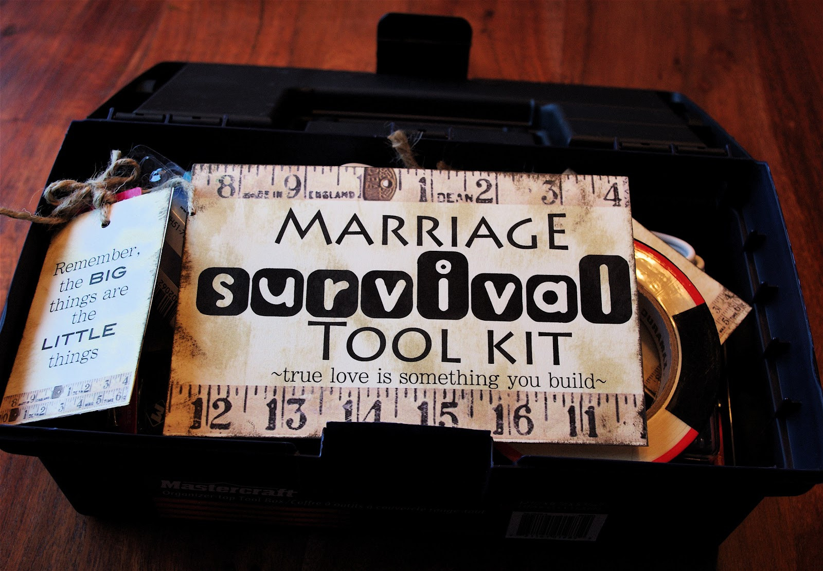 "Good Wedding Gift Ideas  Creative ""Try""als Marriage Survival Tool Kit"