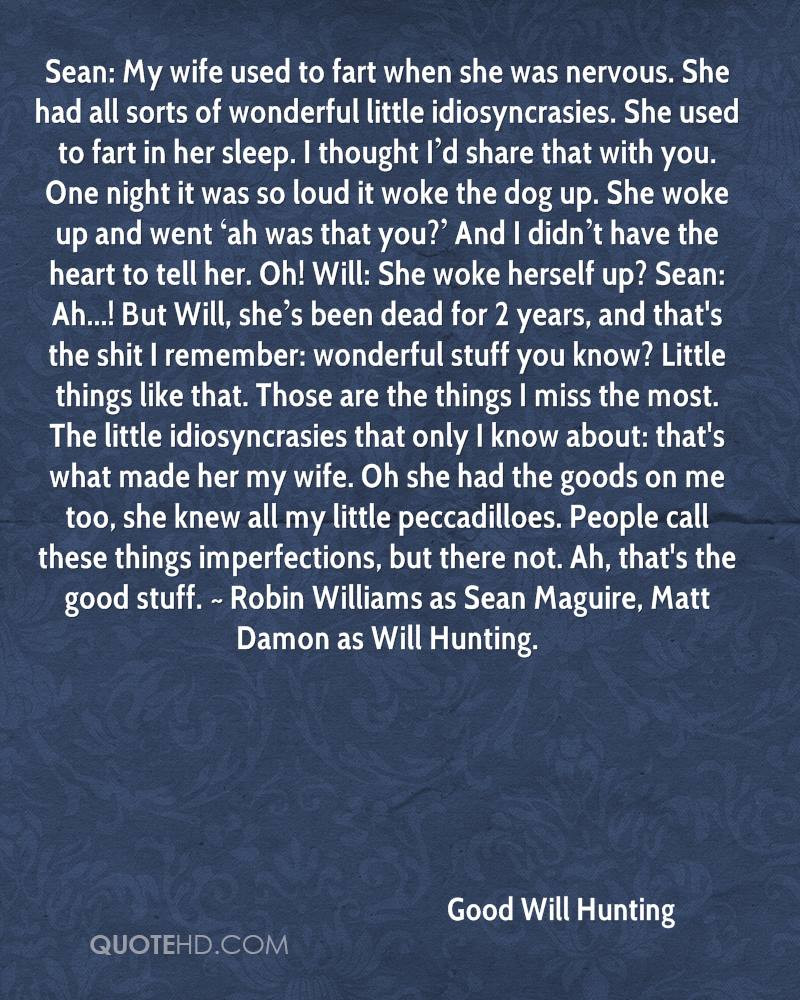 Good Will Hunting Love Quote  Good Will Hunting Wife Quotes
