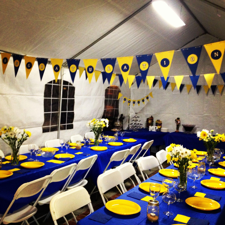 Graduation Dinner Party Ideas  Graduation Dinner but orange and blue